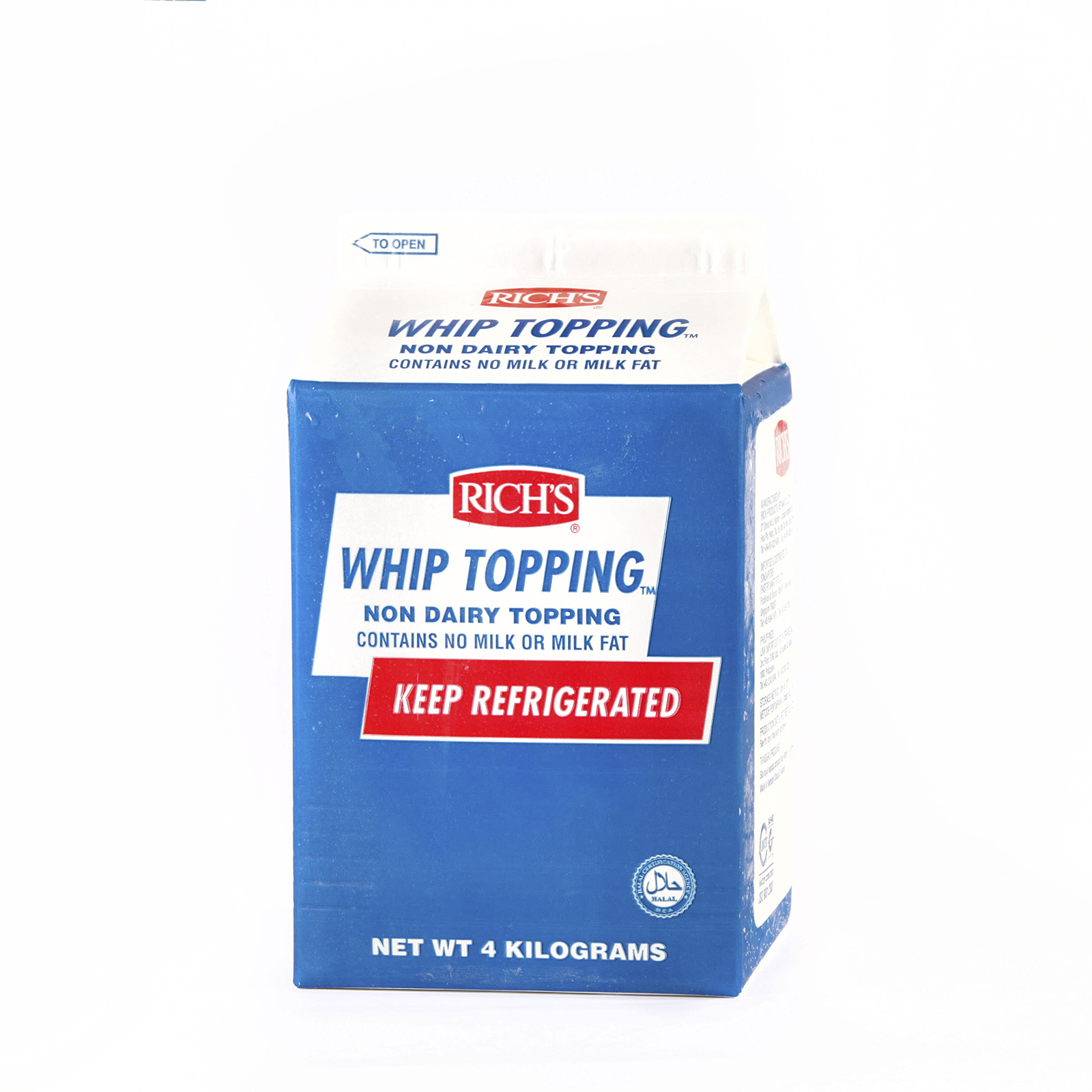 Rich's Air Catering Topping Cream – 4 kg